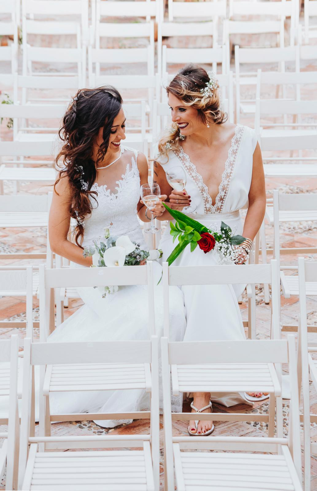fotos de José Luís durante la boda