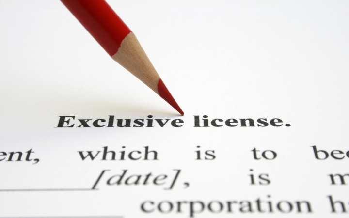 licencia exclusividad
